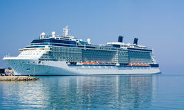 Cruise ship. Image of a cruise ship moored in the harbour Stock Photos