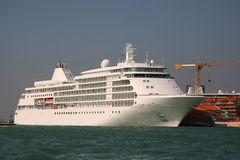 Cruise ship. A cruise ship at anchor in the Venice port Royalty Free Stock Photo