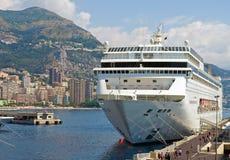 Cruise ship. Luxury cruise ship in sea port of Monte-Carlo, Monaco royalty free stock image