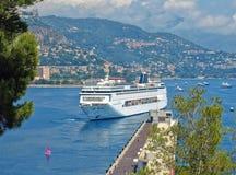 Cruise ship. Luxury cruise ship in sea port of Monte-Carlo, Monaco royalty free stock photo