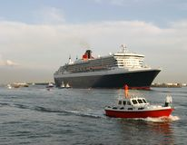 Cruise ship. Queen Mary 2, largest cruise ship in the world in port of Rotterdam Stock Photography
