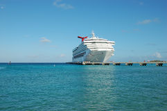 Cruise ship. Big Cruise ship at harbor by Bahamas Stock Photo