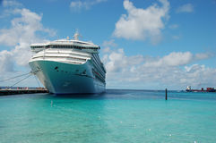 Cruise ship. Big Cruise ship at harbor by Bahamas Stock Images