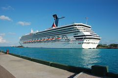 Cruise ship. Big Cruise ship at harbor by Bahamas Stock Photography