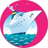 Cruise ship. Vector illustration of Cruise ship