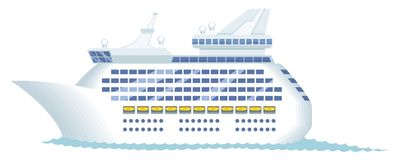 Cruise Ship royalty free illustration