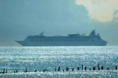 Cruise ship. Leaving the island of Key West, Florida, USA Royalty Free Stock Photos