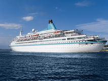 Cruise ship. Luxury cruise ship on his way to a new destination Royalty Free Stock Image