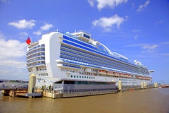 Cruise ship. Cruise liner docked at the Port of Liverpool Royalty Free Stock Photo