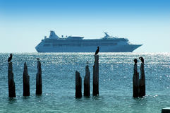 Cruise ship. Leaving the island of Key West, Florida, USA Royalty Free Stock Image