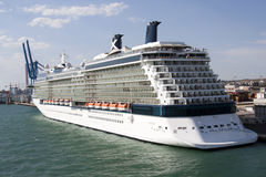 Cruise ship. A view of a large cruise ship Royalty Free Stock Images