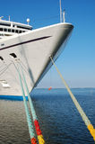 Cruise ship. Big cruise ship docked in a sea port Royalty Free Stock Image