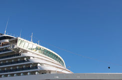 Cruise ship. The passenger ship is moored at the port for a stopover Stock Images
