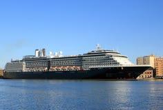 Cruise ship. Docked at the port of Trapani - Sicily Stock Image