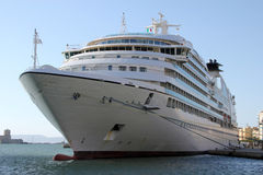 Cruise ship. Docked at the port of Trapani - Sicily Royalty Free Stock Images