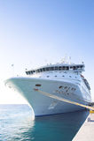 Cruise Ship. A cruise ship moored at a dock Stock Photo
