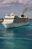 Cruise ship. A modern Cruise ship arriving to destination Royalty Free Stock Photos
