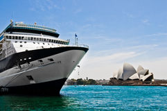 Cruise Ship. Shot of a Cruise ship in Sydney Harbour Stock Photo