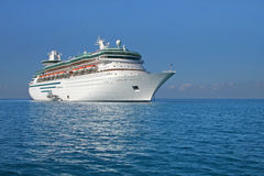 Cruise ship. Huge cruise ship in tropical waters Stock Photography