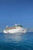 Cruise ship. Huge cruise ship in tropical waters Royalty Free Stock Photos