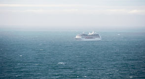 Cruise ship. On voyage on the wide ocean Royalty Free Stock Photos