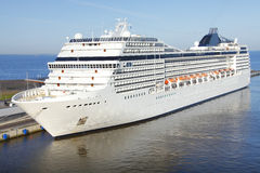 Cruise ship. Docked in Russia Royalty Free Stock Photo