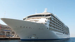 Cruise ship. A luxury cruise ship docked at a port in Trieste, Italy Royalty Free Stock Image