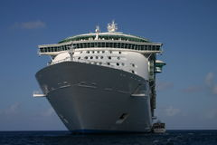 Cruise ship. Picture taken of one of the Royal Caribbean Cruise line ship in the caribbean island port Royalty Free Stock Photos