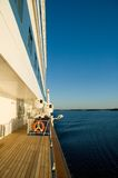 Cruise ship. The side view of a cruise ship's deck Stock Photo