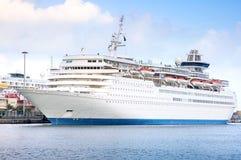 Cruise ship. Cruise visiting Las Palmas in Spain Royalty Free Stock Image