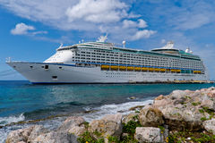 Cruise Ship. Image of cruise ship in Caribbean Stock Images