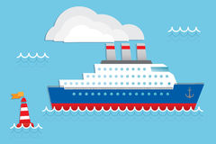 Cruise ship. Cruise liner, cruise ship vector illustration vector illustration