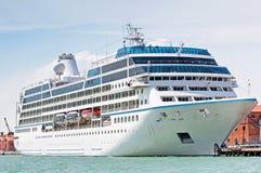Cruise ship. Luxury cruise ship in port of Venice, Italy stock photos