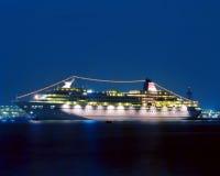 Cruise ship. A cruise ship at sea at night Royalty Free Stock Image