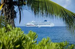 Cruise ship. On the Kona coast, Hawaii Stock Images