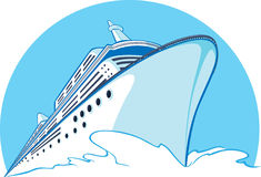 Cruise Ship. A vector image of a cruise ship sailing. Looks formal and simple, this vector is very good for logo, bussiness card, brochure, or other application