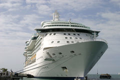 Cruise Ship. Docked in port stock image