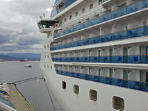 Cruise ship. A cruise ship anchored at the Canada Place in Vancouver, BC, Canada ready to take passenger on an unforgetable trip to Alaska Royalty Free Stock Photos