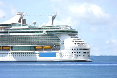Cruise ship. In the Biscayne bay Royalty Free Stock Photo