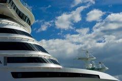 Cruise ship. Horizontal image of cruise ship Royalty Free Stock Photo