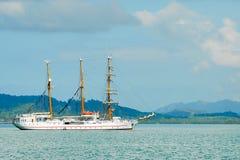 Cruise ship. Cruise saling ship in Asia Stock Photos