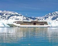 Cruise Ship. Near Glacier in Alaskan sea Stock Image