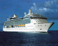 Cruise Ship. In Canadian sea Stock Images