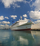 Cruise ship. At Haifa port, Israel Stock Photos