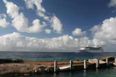 Cruise Ship. At the Caribbean Stock Image