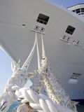 Cruise ship. Anchored at pier stock photography