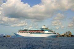 Cruise ship. Royal Cruise ship in Nassau Bahamas Stock Photos