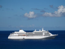Cruise ship in Admiralty Bay, Bequia. A cruise ship arriving at Port Elizabeth bequia Royalty Free Stock Photography