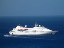 Cruise ship in Admiralty Bay, Bequia Stock Photo