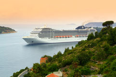 Cruise ship in Adriatic sea Stock Image